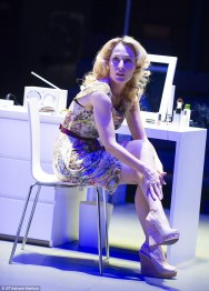Gillian Anderson as Blanche DuBois in Streetcar at the Young Vic