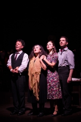 David Burt, Eve Polycarpou, Gina Beck, Daniel Boys (1) in Jacques Brel is Alive and Living in Paris Photo Scott Rylander (1)