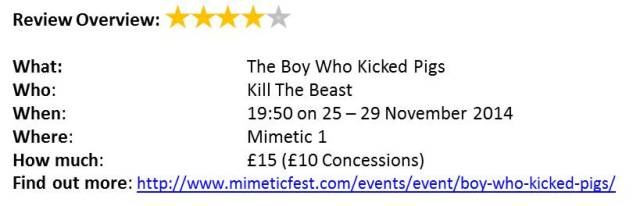 Mimetic The Boy Who Kicked Pigs