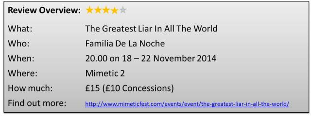 Mimetic The Greatest Liar In All The World