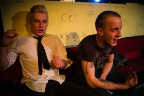 Sickboy (Neil Pendlenton) and Renton (Credit: Christopher Tribble)
