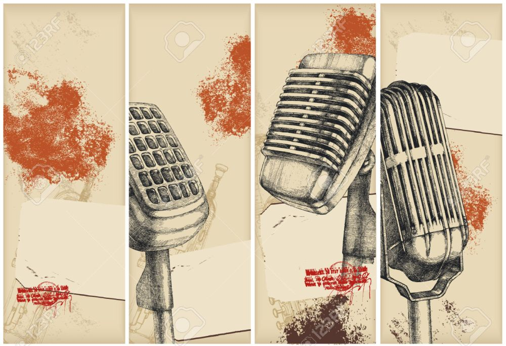 8078825-Microphone-drawing-banners--Stock-Vector-microphone-retro-radio